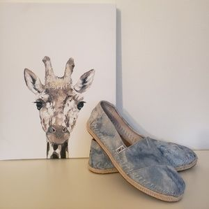 Blue Leather Toms- espadrilles